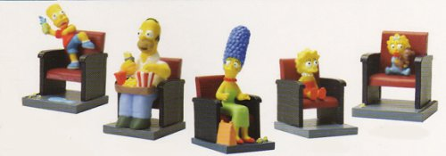 The Simpsons Movie Theater Figure Set - Set of 5 Vending Machine Toys