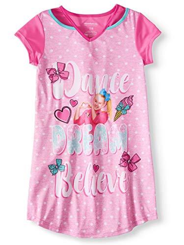 JoJo Siwa Dance Dream Believe Girls Pink Nightgown (X-Small (4-5))