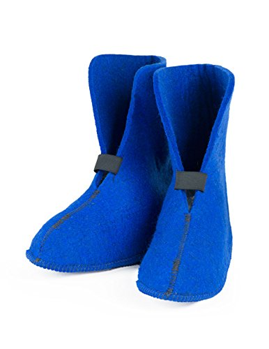 FELT Wool Boot Liners (626), Royal Blue - Standard (Approx 10 Inches Height), Men's 7 / Women's 8.5, 1 ()