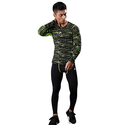 - Men's Athletic Base Layer Crewneck Long-Sleeve Dri Fit Compression Shirt Sport Running Shapewear Vest Tummy Control Top