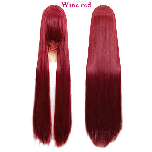 yaning Wig New Women 40 INCH Cosplay Wigs 18 Colors Long Straight High Temperature Fiber Synthetic Hair Perucas Cosplay Wig ()