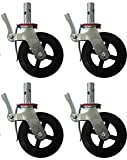 4 cast iron casters - A Set of 4 Wheel 8