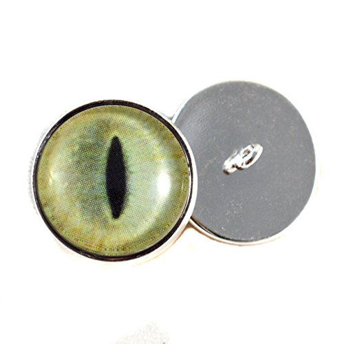Pale Yellow Cat Sew On Glass Eyes16mm Buttons with Loop f...