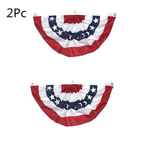 Transser USA Pleated Fan Flag, 17.7