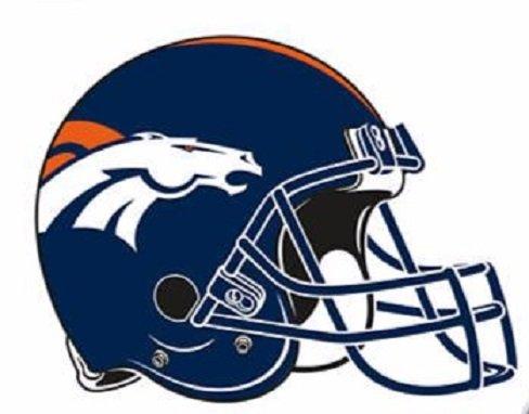 FATHEAD Denver Broncos Team Helmet Logo Official NFL Vinyl Wall Graphic 15