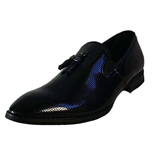 0e273dab1c04 new Faranzi F41289 Men s Black Patent Tuxedo Slip on Dress Shoes With Tassel