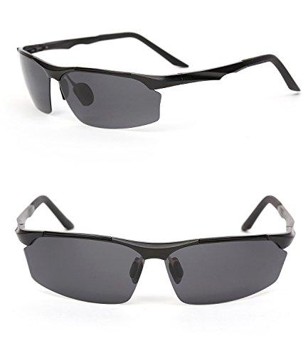 10adc383dc Ronsou Men Sport Al-Mg Alloy Frame Polarized Sunglasses Fashion Driving  eyewear - Buy Online in Oman.