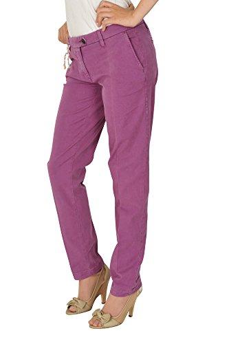 Shaft Jeans Pantalón mujer 28 Lila / Chinos Italian Fit Corte Regular -