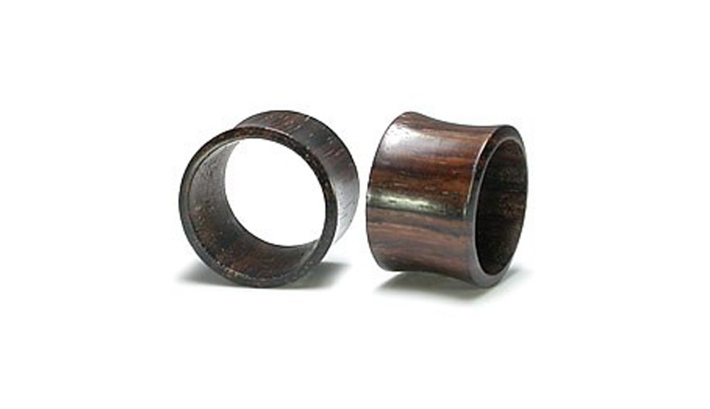 Elementals Organics RAINTREE Wood Tunnel Natural Ear Jewelry 6g up to 2inches - Price Per 1-34mm