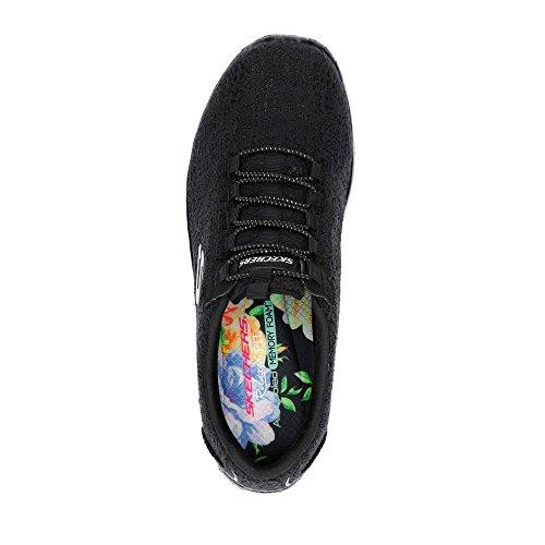 Woman Donna scarpe Foam Empirel Skechers Memory bkw Glow Nero Ginnastica sneakers spring S1nvx0a