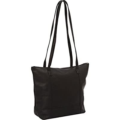 David King Leather Shopping Tote in Black high-quality