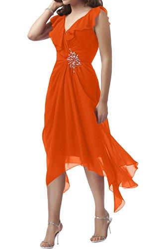 Toskana Para 34 Braut Mujer Vestido Trapecio Naranja qqnTvBwC