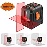 Laser Level, SC-L07 3 Mode Laser Level 50 Ft Self-Leveling Horizontal/Vertical Line and Cross-Line with Dual Laser Sources, Pulse Mode, Magnetic Pivoting Base, Carrying Pouch, Battery Included