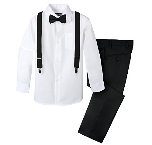 Spring Notion Boys' 4-Piece Suspender Outfit 05 Black/White