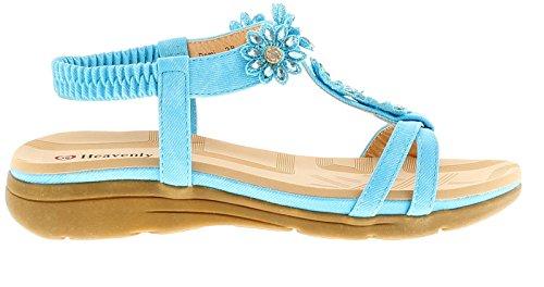 Sandalias Feet Heavenly 3 Tallas Azul De Confort Mujer Gb 8 Semi P7qRqndwH