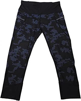 Active Life Womens Capri Leggings, Blue Camo