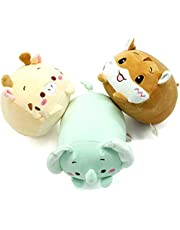 shownicer Knuffeldier pluizig knuffeldier 3 stuks, knuffeldier gewatteerd dier pluche kussen speelgoed cadeau gevuld voor kinderen meisjes jongens knuffeldier voor knuffelliefhebbers