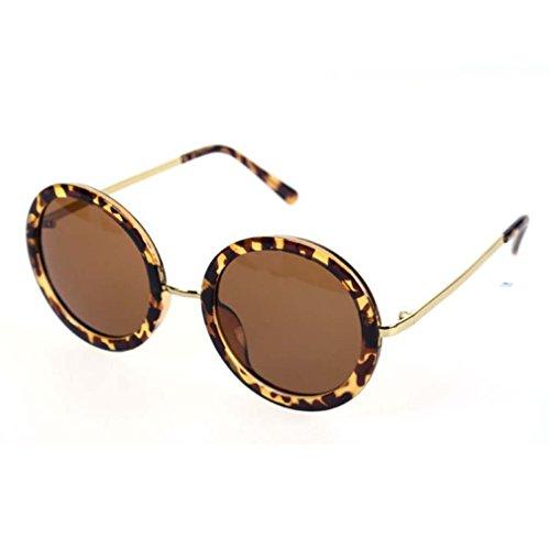 Retro Metal Nose Bridge Slim Mirror Legs Round Circle Sunglasses - King Sunglasses Seven
