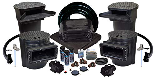 Half Off Ponds PVCUS8 – Savio Signature Ultimate Water Garden and Koi Pond Kit with UV Filter, 2.8 CFM Aeration System, and 40 x 50 Foot PVC Liner