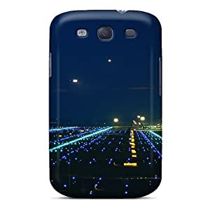 Hot Fashion VNvkJJO3422tMwWi Design Case Cover For Galaxy S3 Protective Case (landing Lights Airport)