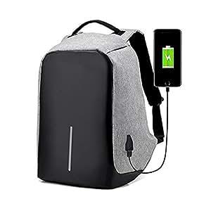Mochila para portátil de negocios - Mochila para computadora portátil con puerto de carga USB para hombres y mujeres - Mochilas universitarias ...