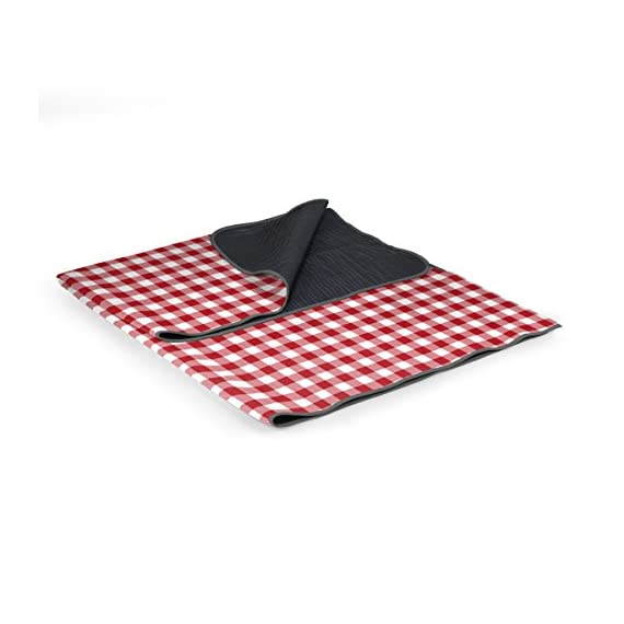 ONIVA - a Picnic Time Brand Outdoor Picnic Blanket Tote - Outdoor portable picnic blanket tote for a variety of activities by Oniva, a Picnic Time brand Features cozy polyester fleece with water-resistant backing and carry strap; Foldable blanket doubles as a beach blanket Travel blanket folds up neatly into a small 13 by 10 by 4-inch tote with a zippered pocket in the flap - blankets-throws, bedroom-sheets-comforters, bedroom - 41sIT0vNupL. SS570  -