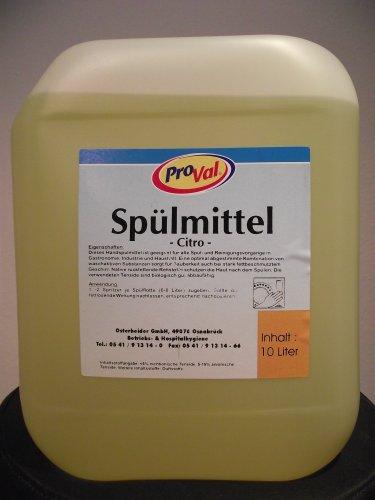Geschirrspülmittel Citro - Handspülmittel - mit Citrus-Frischeduft - 10 Liter - 1 Kanister