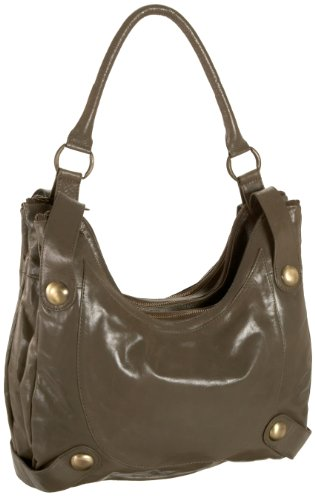 Latico Avis Compartment Hobo,Steel,one size, Bags Central