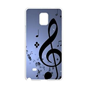Samsung Galaxy Note 4 Cell Phone Case White Musical Note Unique Phone Case Cover XPDSUNTR17770