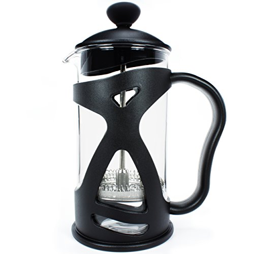KONA French Press Small Single Serve Coffee and Tea Maker, Black 12 Ounce