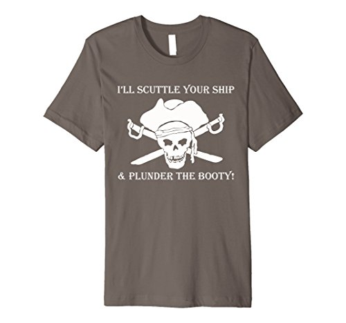 Halloween Raiders Fan Costumes (Mens Scuttle your ship pirate t shirt 2XL)