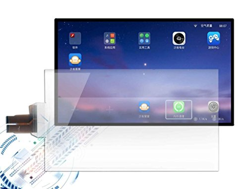 Gerteise 110 Channels 10-100 touch points capacitive multi touch foil/interactive touch film,USB connect interactive touch foil film transparent touch screen film through LCD or projector (32Inch) (Touch Capacitive Multi Screen)