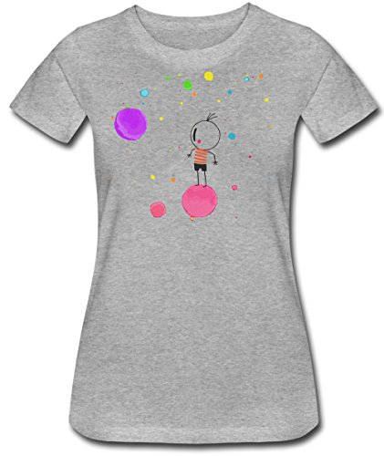 Boy And The World Character With Funny Bubbles Artwork Women's T-Shirt