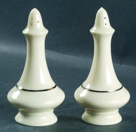 Lenox Regency Collection Salt and Pepper Ivory with Gold Trim
