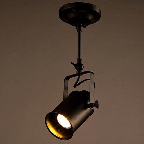 Vintage Ceiling Spot Track Light, MKLOT Retro Adjustable 1-Light Lighting Spot Light with Cone Black Shades,Black Bronze Finish