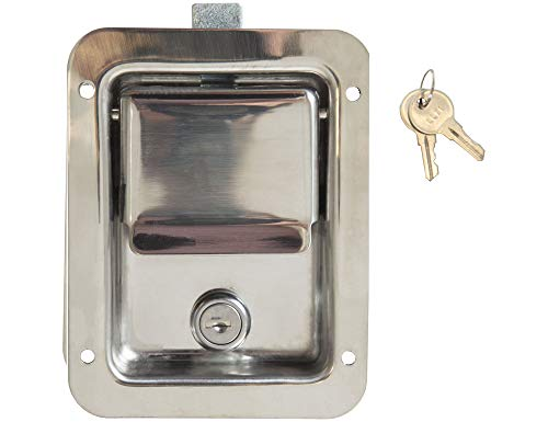 Buyers Products L3885 Standard Flush Latch (Latch,Flush Std.Lk Ss W/Ll71 Cyl&Key) ()