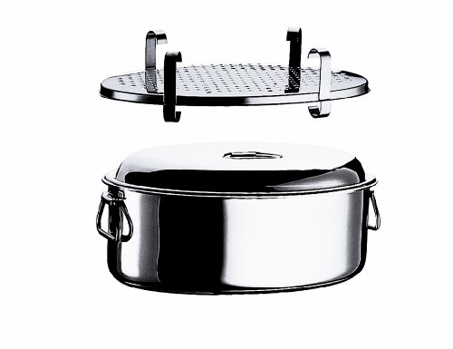 Mepra Oval Casserole with Lid and Grill, 35cm