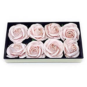 """2"""" Blush Pink Paper Flowers Paper Rose Artificial Flowers Fake Flowers Artificial Roses Paper Craft Flowers Paper Rose Flower Mulberry Paper Flowers 10 Pieces 31"""