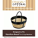 Hamilton Beach 80675 Washable & Reusable Coffee Filter Fits 8-12 Cup Coffee Makers & Cuisinart models: DGB-550BK, DGB-600BC DGB-625BC, DGB-650BC, DGB-700BC, DGB-900BC & DCC-2000, Designed & Engineered by Crucial Coffee
