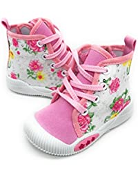 EASY21 New Cute Infant Baby & Toddler Girls Canvas Shoes Sneakers