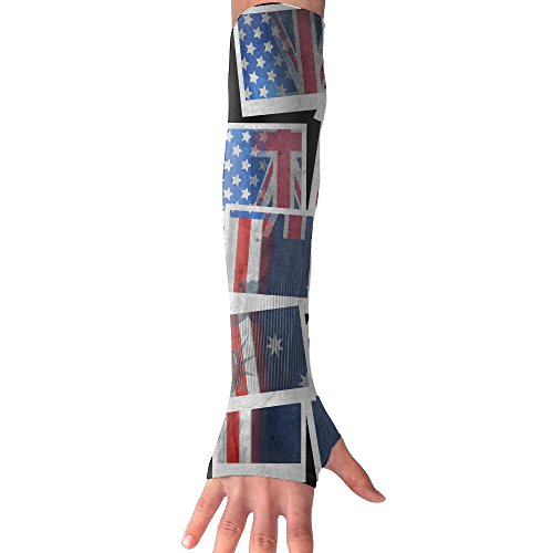 Sun Protection Arm Cooling Sleeve Australia American Flag Day Hip Hop ZHONGRANINC