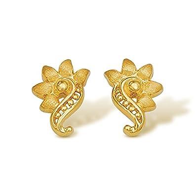 14719f001 Buy Nishtaa 22K Yellow Gold Stud Earrings for Women Online at Low ...