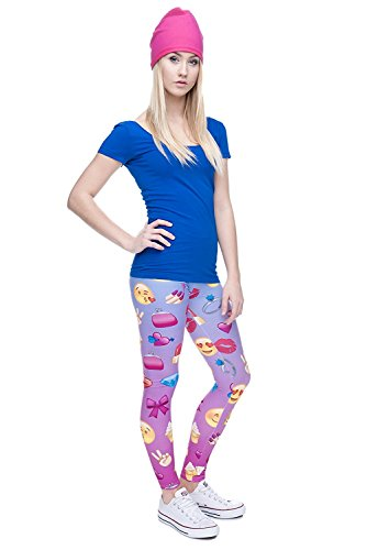 Taille Legging Emoji Unique Alive Pink Femme Eanq66B