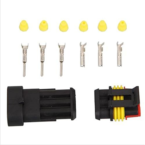 5 sets Kit 3 Pin Way AMP Super seal Waterproof Electrical Wire Connector Plug for car Ogry