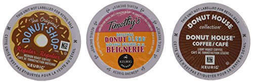 Donut Shop Coffee Favorites Variety Box Single Serve Keurig Certified K-Cup pods for Keurig brewers, 40 Count