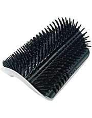 Cat Auto Groomer Brush Supplies for Pets Hair Removal Comb for Cat Dog Color Shedding Cat Massage Device with Catnip, E-Commerce (Color: Black)
