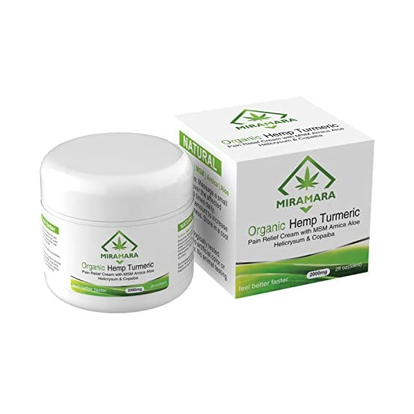 Hemp Joint & Muscle Active Pain Relief Cream – Strength Hemp Oil Treatment Gel for Inflammation, Knee, Shoulder & Back Pain Relief Hot Hemp Cream with Arnica, MSM, Turmeric & Aloe Vera (250ml)