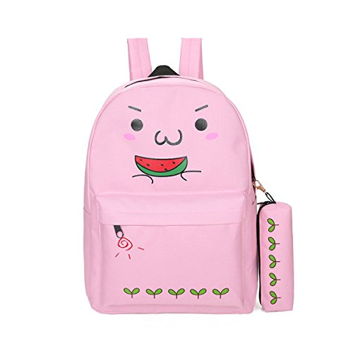 FZHLY Señoras Impresas Hombro Bolsa Fresca Pequeña Bolsa De Estudiante,Blue-D Pink-B