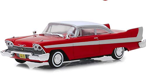1: 43 1958 Plymouth Fury - Christine (1983), Authentic Movie Decoration, Chrome Accents, Real Rubber Tires, True-to-Scale Detail, Limited Edition ()