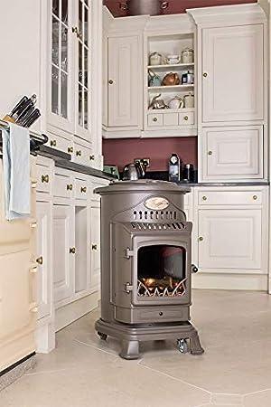 Estufa portatil de gas butano de color marrón miel con panel radiante modelo Provence: Amazon.es: Hogar